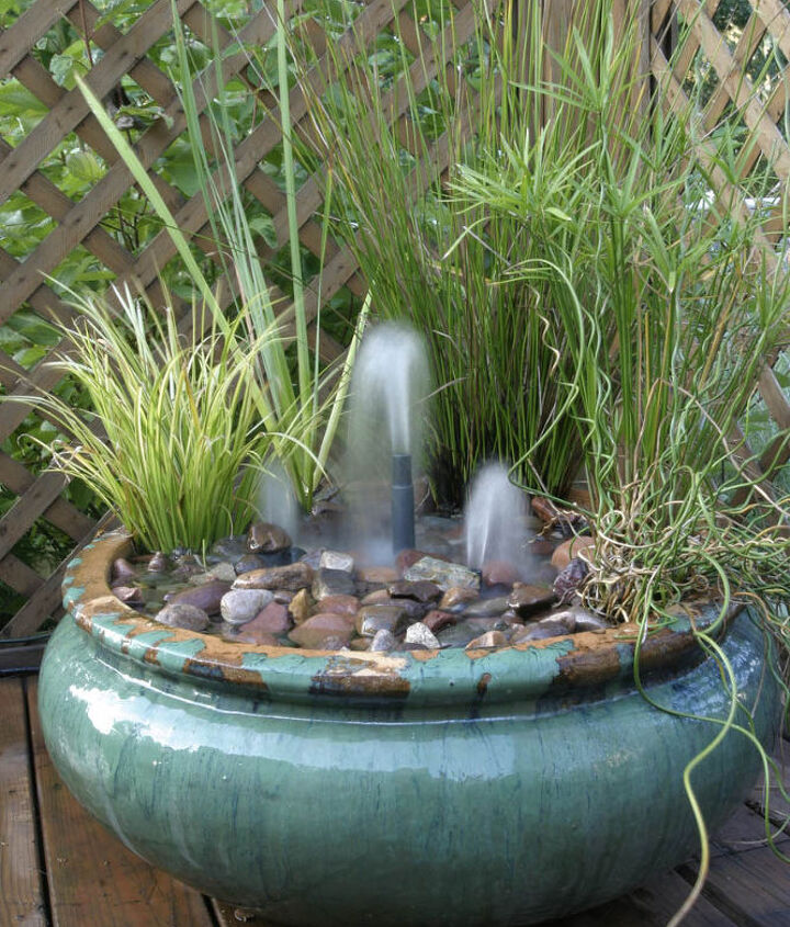 A simple fountain - but be forewarned - your dog will probably enjoy getting a drink here!