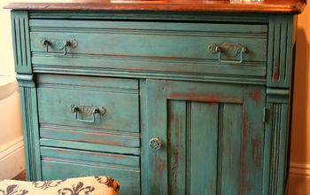 An Old Washstand - Cheered up With Miss Mustard Seed Milk Paint