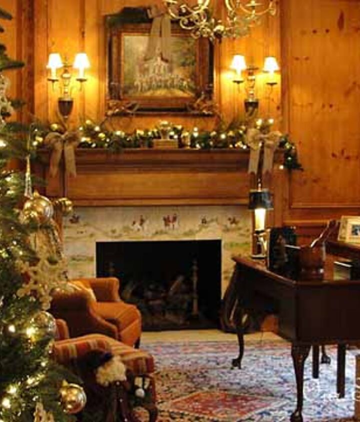 our christmas study, seasonal holiday d cor