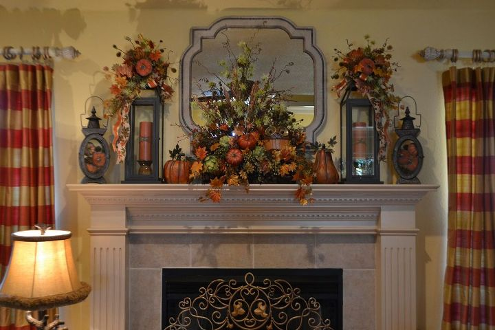 fall mantel 2013, seasonal holiday decor