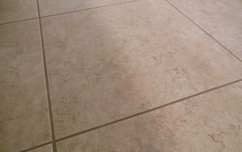 grouted vinyl tile, bathroom ideas, flooring, tile flooring, tiling, After about a half hour of grouting and 24 hours of dry time the floor looks brand new We also sealed this tile with sealer that we already had which is about 10