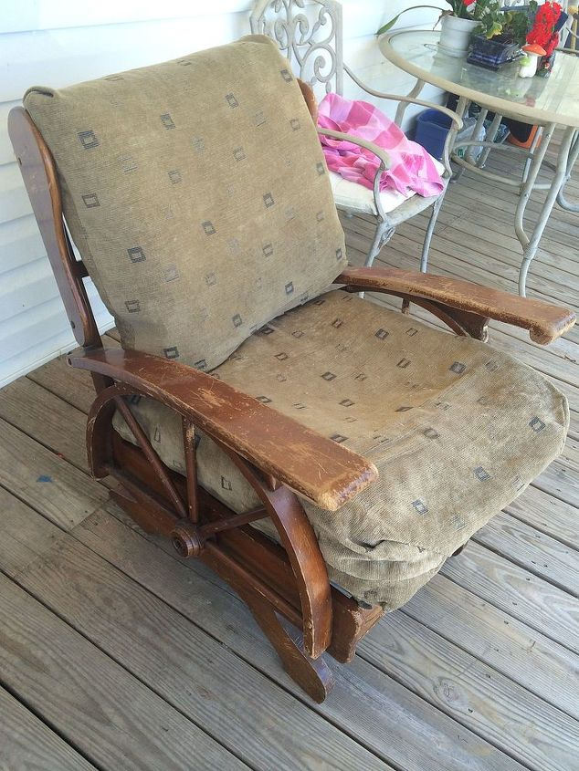rocking chair redo, painted furniture, Before