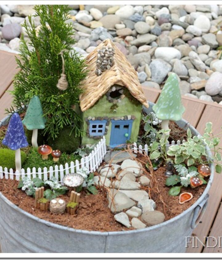 Using easily found items and created items, I was able to create a fairy garden - a great project with my children.