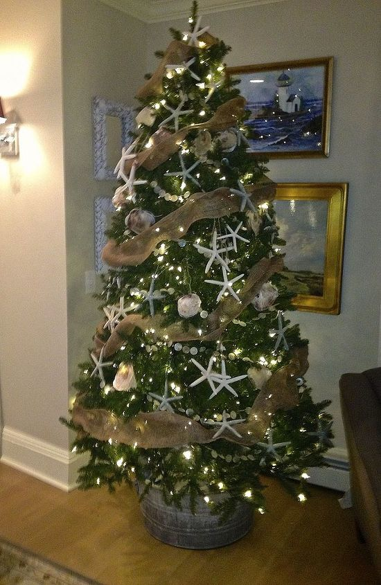 coastal christmas, christmas decorations, seasonal holiday decor