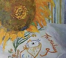 petite original oil paintings, painting, On Thursday Give Thanks Oil 11 x 14 pamelasweetfinearts com