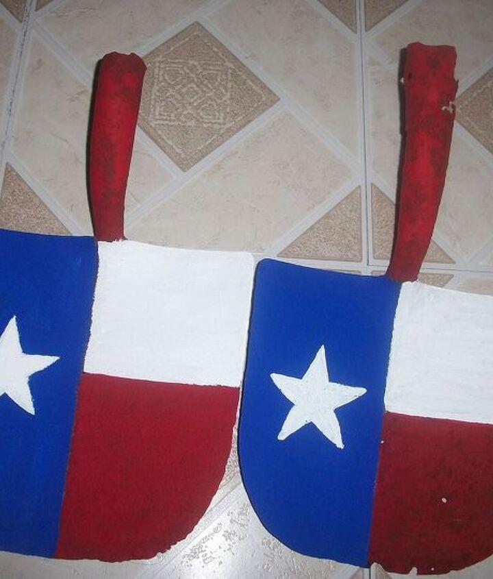 Texas flag-short face shovel