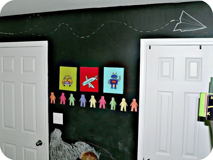kids bedroom chalkboard wall, bedroom ideas, chalk paint, chalkboard paint, painting