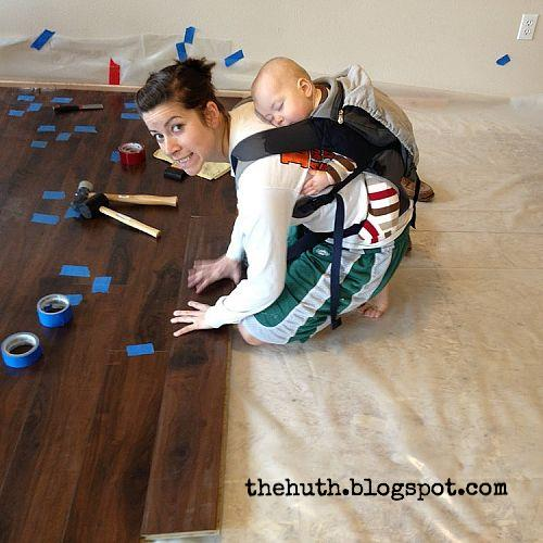laminate floor installation, diy, flooring, how to, living room ideas, Shout out to Baby H for being a fantastic helper