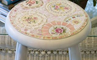 mosaic stool, painted furniture, tiling, Mosaic bar stool