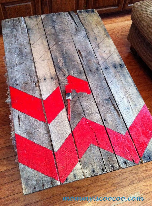 How To Make A Chevron Pallet Ornament Christmas Tree