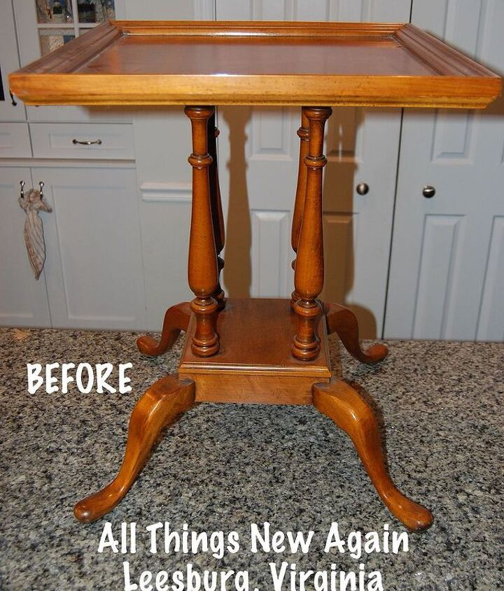 my grandmother s table, painted furniture