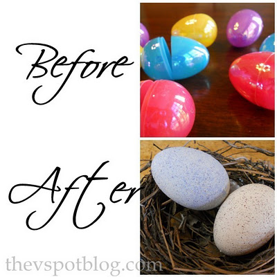 Recycle Boring Plastic Eggs And Make Faux Robin For Your Spring Or Easter Decor
