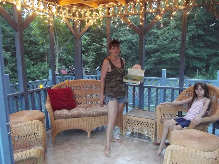 updated and transformed deck to oasis of serenity, decks, diy, how to, outdoor living, porches, woodworking projects, AHHHHH Time for my favorite part ambiance the interior decorating has begun