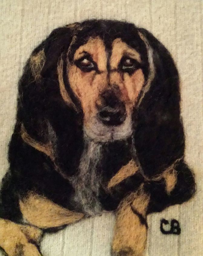 have discovered wool felting and love making pictures, crafts