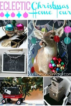 an eclectic christmas home tour, christmas decorations, seasonal holiday decor, It s a random smattering of decorations and it works
