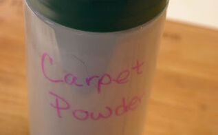homemade carpet powder, cleaning tips, flooring, An empty Parmesan cheese container makes the perfect container for homemade carpet powder