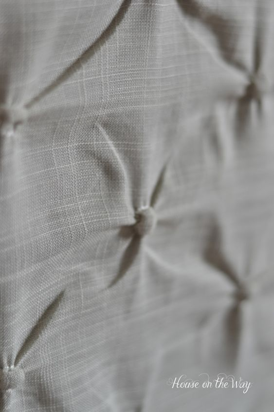 This linen blend fabric has pin-tucked detail.