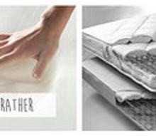 memory foam vs innerspring mattresses, bedroom ideas, painted furniture
