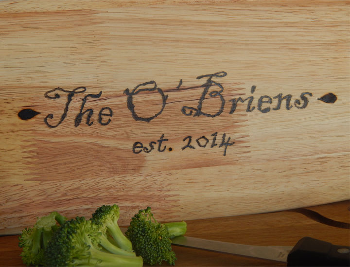 personalized cutting board gift, crafts