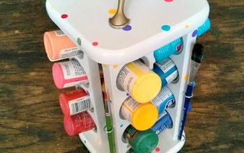 Repurposing an Old Spice Rack Into a Craft Paint Organizer