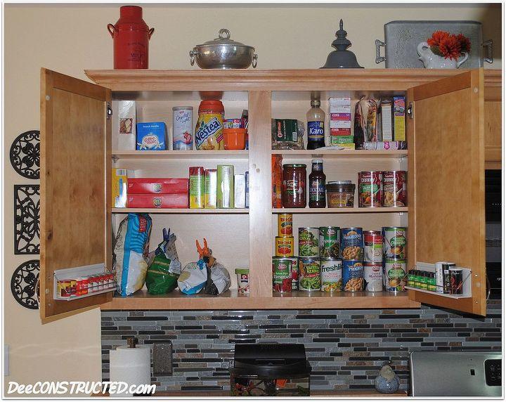 simple cabinet organization, kitchen cabinets, kitchen design, organizing, upper cabinet