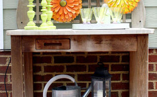 backyard patio party ideas, fireplaces mantels, outdoor living, patio, porches, Have a fun drink station