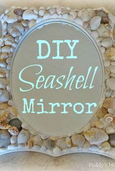diy seashell mirror, crafts, DIY Seashell Mirror
