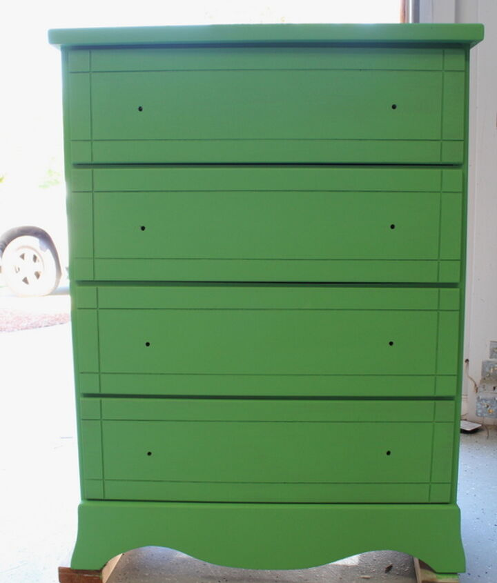"""Painted with 2 coats of La Craie """"the chalk"""" paint."""
