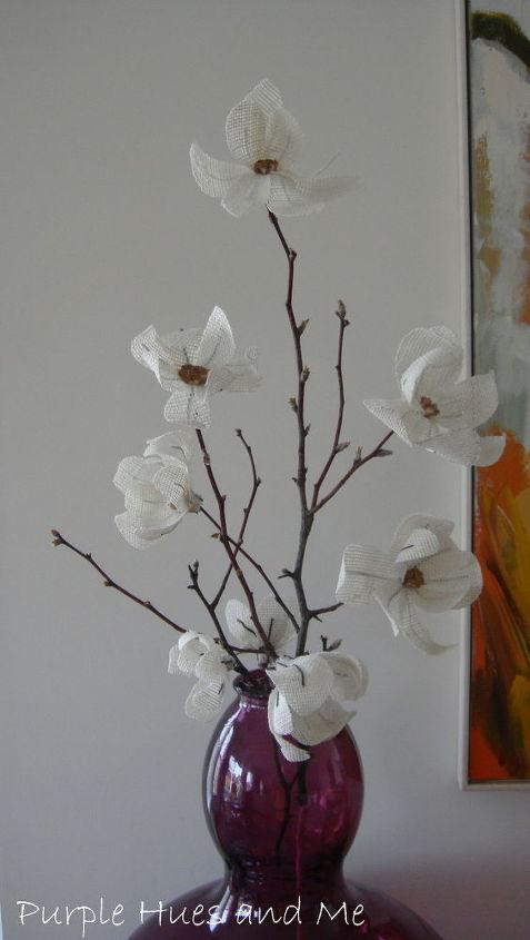 How To Make Burlap Magnolia Flowers Hometalk