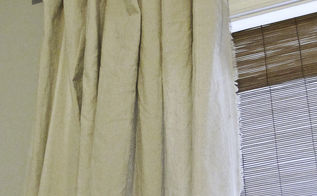 no sew fringe curtains and diy curtain rods, home decor, reupholster, window treatments