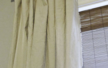 No-sew fringe curtains and DIY curtain rods