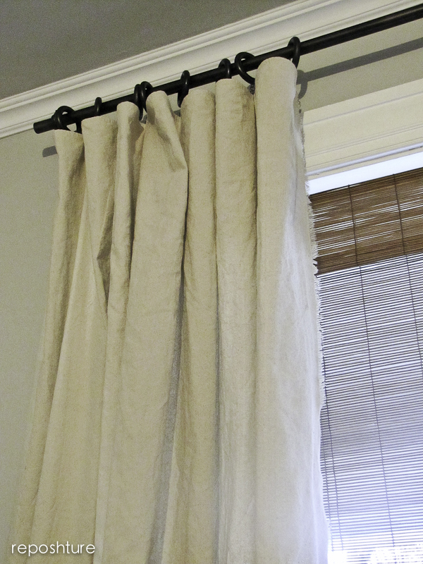 No Sew Fringe Curtains And Diy Curtain Rods Hometalk