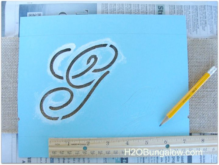 Step by step instructions for using script stencils are covered.