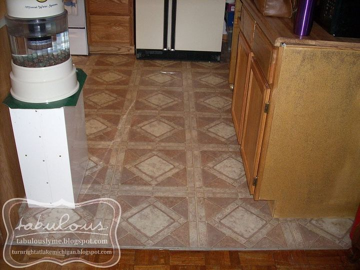 The newish, but ugly, linoleum.