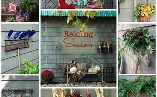 raking season favorite ways to decorate and use a vintage rake, gardening, repurposing upcycling, seasonal holiday d cor, Decorative uses for a rake rather than the functional one
