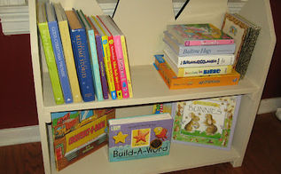 new use for an 80 s painted fireplace screen, diy, repurposing upcycling, The new and improved Preschool Bookcase