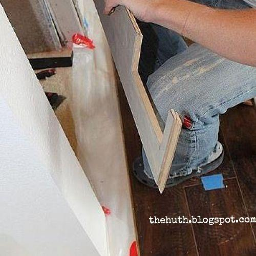 laminate floor installation, diy, flooring, how to, living room ideas, We used a miter and table saw for our cuts Most cuts were straight forward the above cut being the exception Cuts around doors proved to be the trickiest This cut took us 3 times to finally get it right