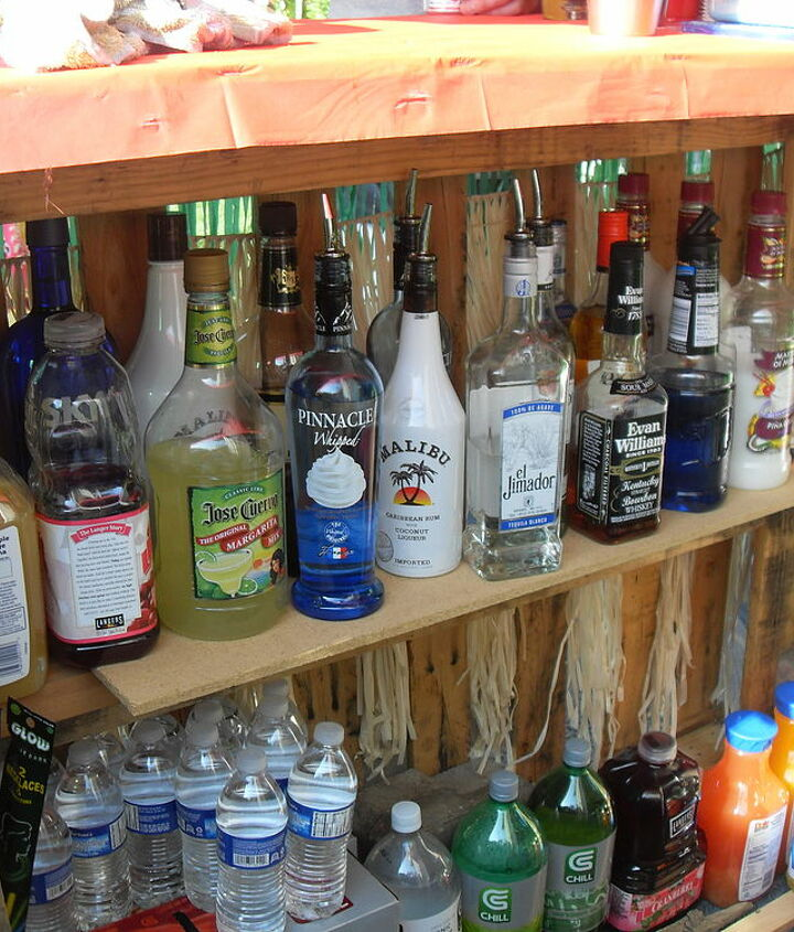 adding the shelf helped alot in supporting the bar, not to mention ALL that booze!!
