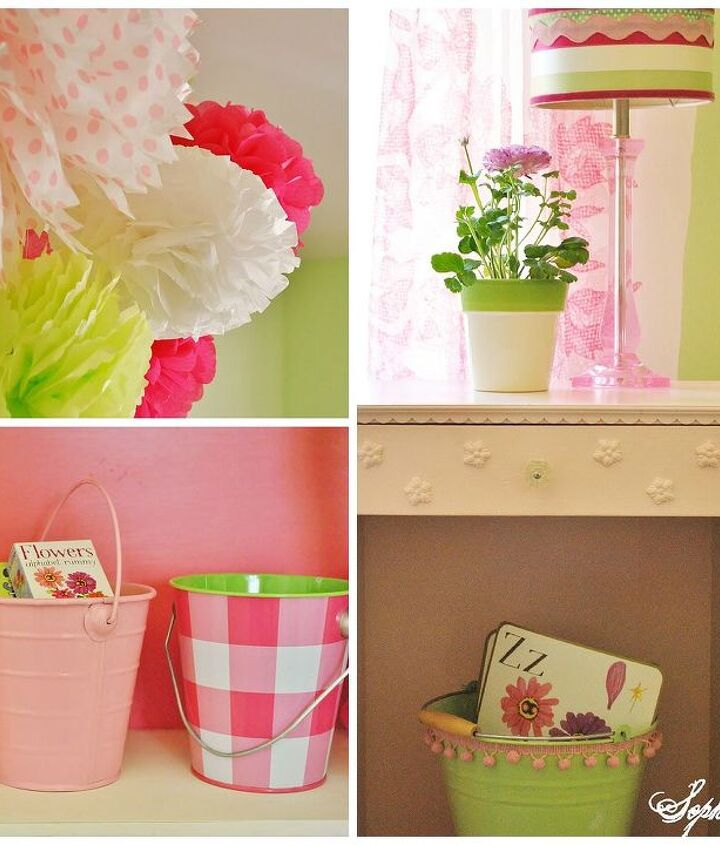 bright and cheery girls bedroom on a budget, bedroom ideas, home decor