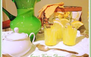 A Yellow and Green Spring Kitchen Display