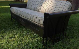 vintage porch glider restoration, outdoor furniture, painted furniture