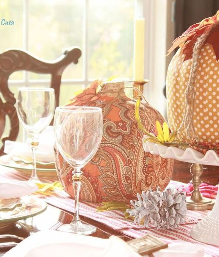 They are the center piece at my Fall tablescape.