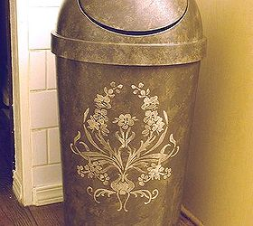 Make A Plastic Garbage Can Look High End, Home Decor, Kitchen Design,  Painting
