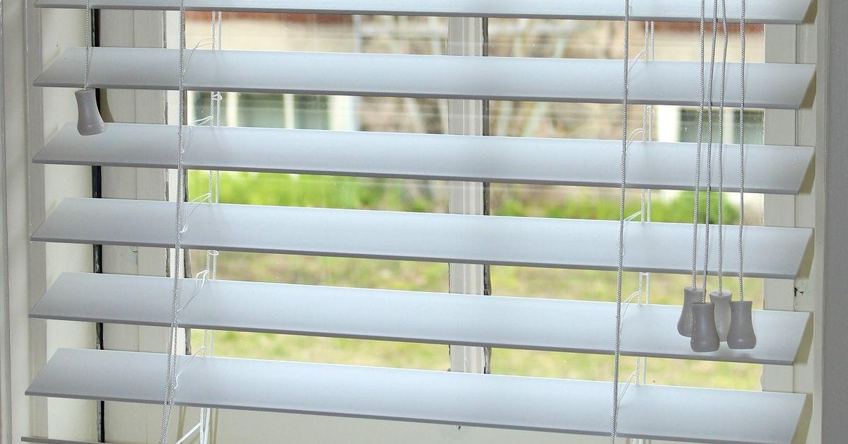 how to shorten faux wood blinds hometalk. Black Bedroom Furniture Sets. Home Design Ideas