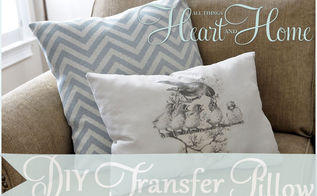 diy iron on transfer pillow, crafts