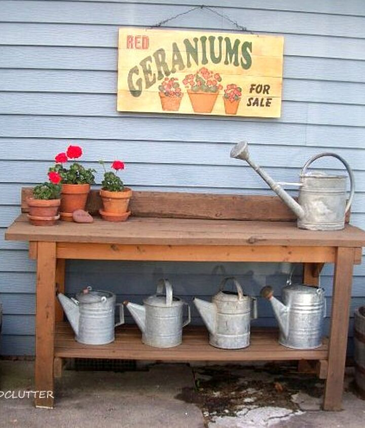 This is my workbench kit/potting bench stained with deck stain.
