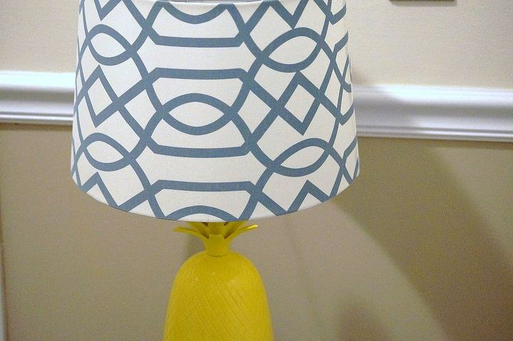 I love this lamp with its new look.  There's nothing better than finding used treasures then turning them into something new!