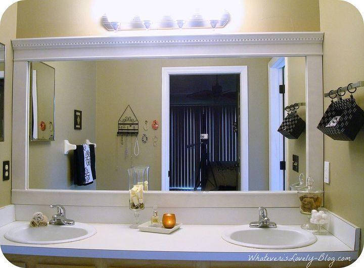Bathroom Mirror Framed With Crown Molding Hometalk - Bathroom crown molding