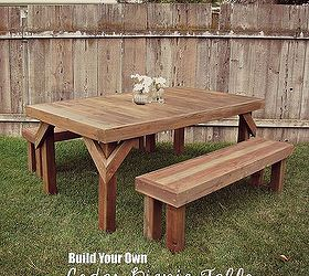 Diy Cedar Picnic Table, Diy, Outdoor Furniture, Outdoor Living, Painted  Furniture,