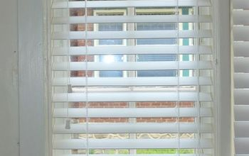 how to shorten faux wood blinds, home maintenance repairs, how to, window treatments, windows, So much better with the proper length